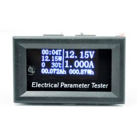 OLED DC Voltage Current Meter 33V 10A Electrical Parameter Tester Power Temperature Energy Capacity Test