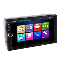 "7"" Car MP5 Player LCD HD Double DIN Car In-Dash Touch Screen Bluetooth Car Stereo FM MP3 Radio Player 7018B"