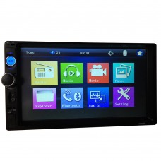 "7"" HD Car Radio MP5 Player 2 Din Touch Screen Bluetooth Support FM MP5 USB AUX Bluetooth 7010B"