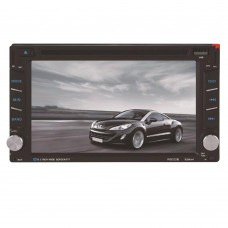 "6.2""  Bluetooth DVD CD Player 800x480 Touch Screen Wireless Remote Control 2-DIN InDash FM Radio Receiver 6002B"