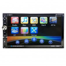 6.95'' Car DVD Player 2 Din Bluetooth Stereo FM Radio MP3 MP5 DVD Multimedia Player Support USB CD AUX Drive
