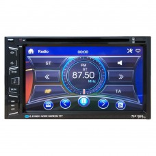 "Car DVD Player 6.5"" 2 DIN MP5 Radio Bluetooth Steering Wheel Control Front Rear Camera Input Touch Screen AM FM 6165B"