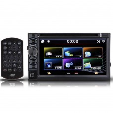 "6.5"" Car DVD Player 2 Din Touch Capacitance Screen Bluetooth FM Radio Steering Wheel Control"