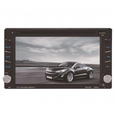 "6.2"" Car DVD Player GPS Navigation Touch Sreen 2 Din Bluetooth FM Radio Support Steering Wheel Control F6002B"
