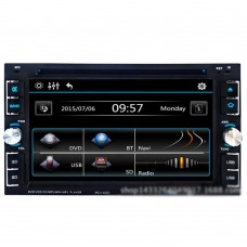 "6.2"" 2 DIN Car DVD Player Touch Screen Bluetooth Phone FM Radio MP3 MP4 CD Audio Video USB SD 6205"
