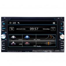 "6.2"" 2 DIN Car DVD Player Touch Screen Bluetooth Phone FM Radio MP3 MP4 CD Audio Video USB SD 6205"