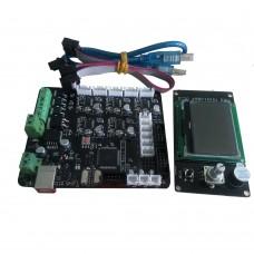 3D Printer Motherboard Marlin Conrtoller Board MKS Base_L+MINI12864 Kit DIY