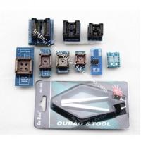 Full Set 10 Adapters for Nimipro TL866 Universal Programmer TL866cs TL866A + SOP28 +SOP8 +PLCC IC Extractor