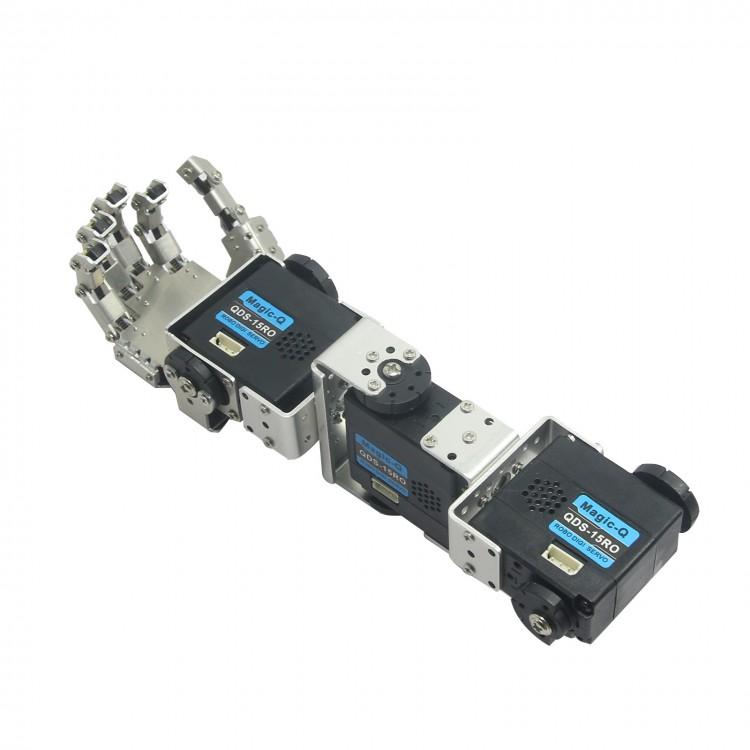 Humanoid Robot Arm with Fingers Manipulator /& Servo for DIY Robotics Assembled