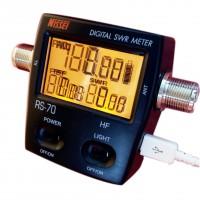 NISSEl RS-70 Digital SWR & Power Meter 1.6-60 Mhz HF 200W For 2 Way Radios