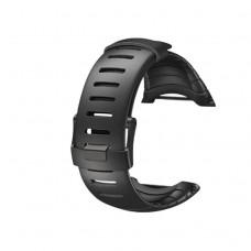 SUUNTO CORE Black Men Watch Strap Waterproof Silicone Strap Watch Band+ Black PVD Buckle