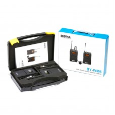 BOYA BY-WM6 Lavalier Wireless Microphone System Transmitter Receiver for ENG EFP DSLR Cameras & Camcorders