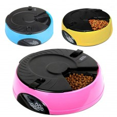 6 Meal Automatic Pet Feeder Auto Dog Cat Food Bowl Dispenser Electronic 3 Colors Available