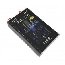HAM Radio Receiver Software Defined Radio 100KHz-1.7GHz Full Band UV HF RTL-SDR USB Tuner RTL2832U+R820T2