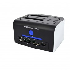 "HDD Docking Station USB3.0 Interface Support Dual SATA 2.5"" 3.5"" HDD GOMASS"