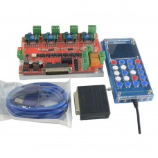 CNC Router 4 Axis Stepper Motor Driver Card Controller V4 NV8727T MACH3+NC200+Handwheel Kit for Engraving Machine