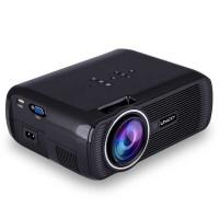Uhappy U80 Portable Projector 1080P LED HD Home Theater Support HDMI VGA USB Black