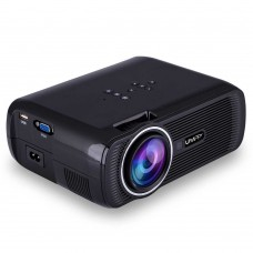Uhappy U80 Portable Projector 1080P LED HD Home Theater Support HDMI VGA USB Black