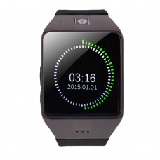 """UHAPPY UW1 Smart Watch 1.55"""" Bluetooth Capacitive Touch Screen Watch Phone Fitness Pedometer NFC Black"""