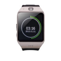 """UHAPPY UW1 Smart Watch 1.55"""" Bluetooth Capacitive Touch Screen Watch Phone Fitness Pedometer NFC Gray"""