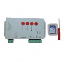 T1000S SD Card WS2801 WS2811 WS2812B LPD6803 LED 2048 Pixels Controller DC5-24V RGB Controller