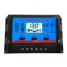 LCD Solar Charge Controller 10A 12V 24V PWM Regulator Timer and Light Control Dual USB SWC10A