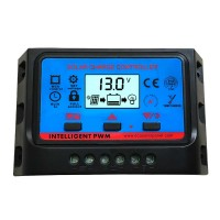 LCD Solar Charge Controller 30A 12V 24V PWM Regulator Timer and Light Control Dual USB SWC30