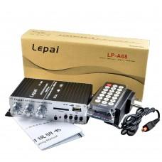Lepy 12V Car MP3 HiFi Stereo Audio Amplifier Auto Motocycle Power Amp Player with USB Port DVD FM MMC LP-A68