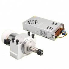300W Air Cooling DC Spindle Motor + Motor Mount 52mm + Power Supply for CNC Router Engraving Machine DIY