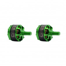 Sunnysky R1406 Brushless Motor 3300KV CW CCW for FPV Racing Quadcopter FPV Drone 1Pair Green