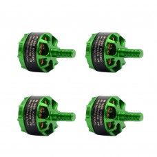 Sunnysky R1406 Brushless Motor 3300KV CW CCW for FPV Racing Quadcopter FPV Drone 2Pair Green