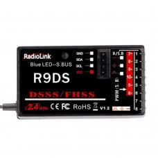 RadioLink R9DS 2.4G 9CH DSSS & FHSS Receiver for FPV RC RadioLink AT9 AT10 Transmitter