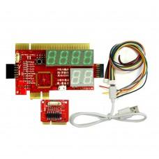 Upgraded 5 in 1 Laptop Desktop PC Diagnostic Test Card Support PCI,PCI-E LPC Mini PCI E LPC KQCPET6-H