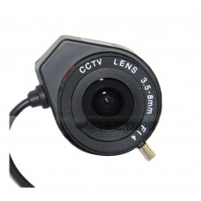 "3.5-8mm CS IRIS Auto Varifocal Zoom CCTV Lens F1.4 Manual Lris Camera Lense for 1/3"" CCD"