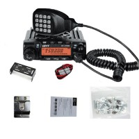 QYT KTUV980 Walkie Talkie Mobile Transceiver Dual Band 136-174MHz 400-490MHz 65W Car Radio Station