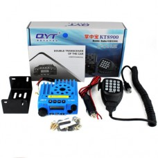QYT KT8900 Walkie Talkie Transceiver UV 136-174MHz 400-480MHz Dual Band FM Mobile Radio 200CH Blue