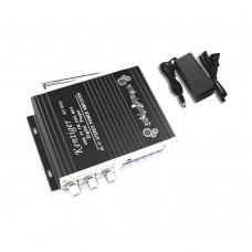 Kentiger V10 Audio Amplifier Bluetooth HiFi Class D Stereo Audio Power AMP + Power Supply Black