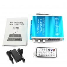 Kentiger V10 Audio Amplifier Bluetooth HiFi Class D Stereo Audio Power AMP + Power Supply Blue