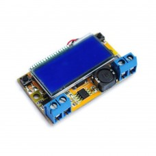 3A DC DC Step Up Boost Module Adjustable Power Supply Module LCD Voltage Current Display with Shell Kit
