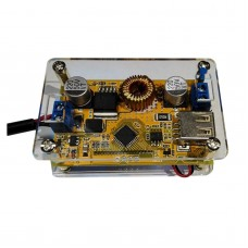 5A DC Step Down Buck Power Supply Module LCD Voltage Current Display with Shell Kit