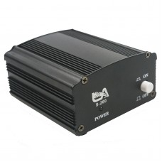 48V Phantom Power Supply with Adapter for Condenser Broadcasting Studio Recording Microphone