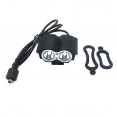 X2 Bike Bicycle HeadLamp Light LED Cycling Lamp Waterproof DC Interface T6 O-Ring