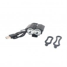 X2 Bike Bicycle HeadLamp Light LED Cycling Lamp Waterproof USB Interface T6 O-Ring