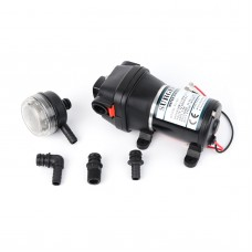 Water Pump DC12V 12.5L/min Self Priming Pump for Fishing Boat Yacht Marine and RV FL-35