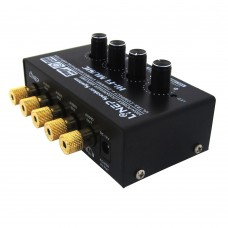 1 In 4 Out Audio Sound Signal Amplifier HiFi 4 Channel Loudspeaker Stereo Headphone AMP Linep A908