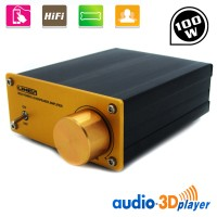 100W Digital Power Amplifier HIFI Stereo Audio AMP Dual Channel with Power Adapter A960