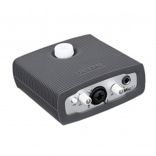 ICON MicU External Sound Card USB Audio Interface 1 Mic-In 2-Out for Recording Studio Karaoke