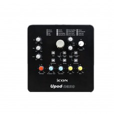 ICON Upod Nano Sound Card Audio 2 Mic-In 1 Guitar-In 2-Out USB Recording Interface 48V Phantom Power