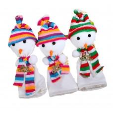 Christmas Snowman Apple Fruit Bag Gift Ornament for Home Festival Party Decor 10Pcs