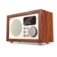 Wood Bluetooth Audio Loudspeaker Subwoofer Remote Control FM U-Disk TF Card BOOMBOX D50 Ebony Pattern